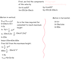 projectile motion example kinematics exams
