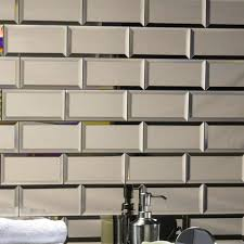 abolos echo abolos l stick beveled 3 x 6 mirror glass handmade backsplash bathroom subway wall tile in gold reviews wayfair