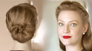 Retro Hair Style simple retro updos for everyday life different ages youtube 7987 by wearticles.com