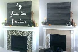 black tile fireplace luxury tiles for glass tiled wall best of surround