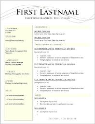 Simple Job Resume Template Download For Top Rated Sample Format
