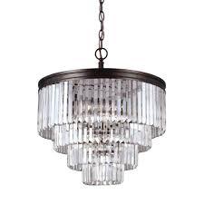 sea gull lighting carondelet 6 light burnt sienna multi tier chandelier