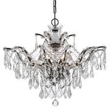 crystorama ore 6 light crystal bronze chandelier ii