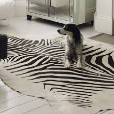 Zebra Printed Cowhide Rug  Rugs  Graham and Green