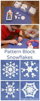 Designs From Mathematical Patterns Math Art Make Pattern Block Snowflakes Frugal Fun For