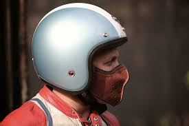 slim leather motorcycle mask by 4h10