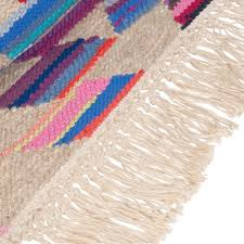 cult living aztec navajo flat woven kilim rug multi coloured
