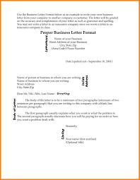 11 Correct Format For Business Letter Forklift Resume