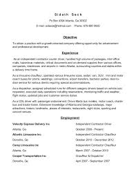 Truck Driver Objective For Resume Chauffeur Resumes Tolgjcmanagementco 65