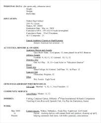 Resume Samples High School High School College Resume Template New ...