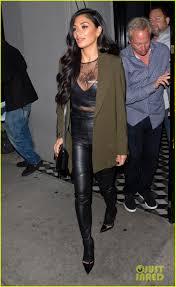 nicole scherzinger rocks leather pants for night out