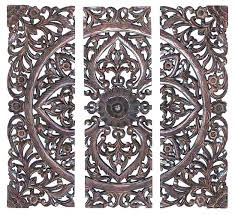 wooden carved wall hangings white