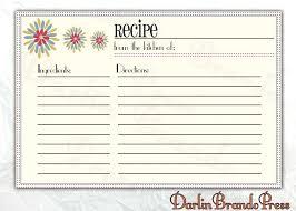 recipe template free editable recipe template arien