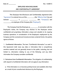 This employee loan agreement and promissory note (the agreement) is made and effective this 4th day of april, 2019, between: Free Employee Non Disclosure Nda Agreement Templates Word Pdf