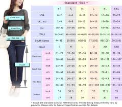 International Clothing Size Chart Small Medium Large Womens Sizing Measurement Chart Standard Sizes Useful