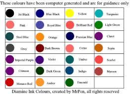 Diamine Ink 39 Colours
