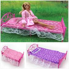 dolls furniture set. Wholesale Promotion Classical Dolls Furniture Set Bed Outfit Bed+Sheet+Pillow For Barbies Girl Nice Birthday Gift Reborn Doll Supplies 18 S