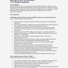 Quality Analyst Cv Resume Samples Qa Valid Pliance Analyst Resume Sample Elegant 23