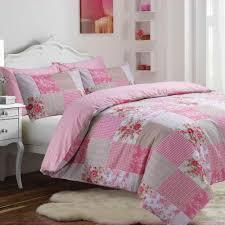 vintage patchwork pink duvet cover set