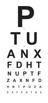 Eye Chart 6 Meter Basic Cardboard