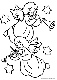 christmas angels playing music color page   christmas coloring pageschristmas angel color page  holiday coloring pages  color plate  coloring sheet printable