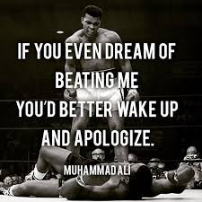 If You Even Dream Of Beating Me Quote Best of If You Even Dream Of Beating Me You'd Better Wake Up And Apologise