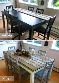 kitchen table and chairs redo inspirational best 25 diy table top ideas on diy table refurbished