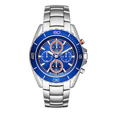men s michael kors watches ernest jones michael kors men s stainless steel jet blue bracelet watch product number 3834085