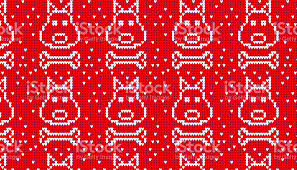 red dog bone background. Plain Bone Seamless Knitted Pattern With Dog And Bone Background Royaltyfree  Seamless Knitted Pattern In Red Dog Bone Background I
