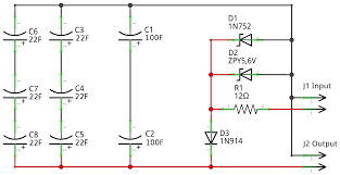 supercap bank circuit