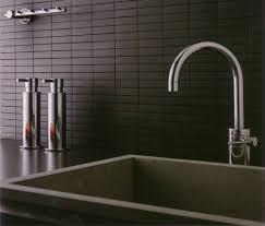 Rectangular Kitchen Tiles Classy Black Modern Kitchen Tile Backsplash With Rectangular Tiles