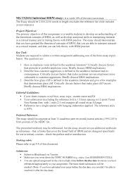 Mgts2604 Hrm Essay Task Description And Marking Rubric Mgts2604