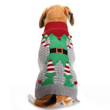 Nacoco Christmas Dog Sweater Ugly Elf Pet Jumper Clown Holiday And Party For Dog And Cat