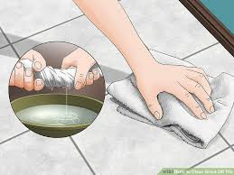 image titled clean grout off tile step 2