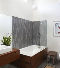 bathroom tub and shower designs. View In Gallery Stylish Modern Bathroom White Tub And Shower Designs H
