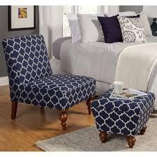 Schlafzimmer Stühle Und Osmanen Mit Slipper Blau Weiß Quatrefoil