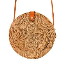 Camilla by POPPY + SAGE - Circle Rattan <b>Straw</b> Shoulder <b>Bag</b>