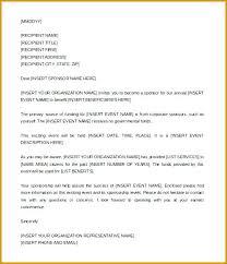 Sponsorship Levels Template 6 Event Sponsorship Letter Template ...