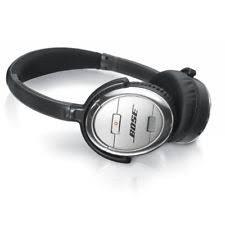 bose noise cancelling headphones case. bose quiet comfort 3 qc3 acoustic noise cancelling headphones silver w/ case