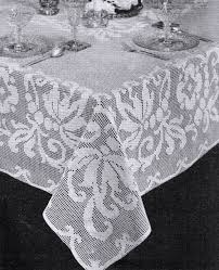 Crochet Tablecloth Pattern Magnificent Free Vintage Filet Crochet Tablecloth Patterns Vintage Patterns