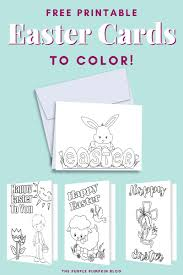 There is a template to which you can upload a personal or family photo from your. Free Printable Easter Cards To Color Fun Easter Activities For Kids