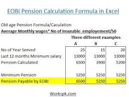 wages register in excel eobi pension formula calculation works pk