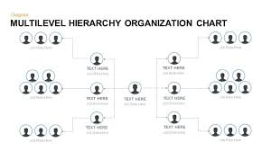 Powerpoint Hierarchy Templates Multilevel Hierarchy Organization Chart Template For Powerpoint