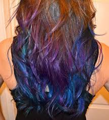 Galaxy Hair In Ombre Hairstyle Curls