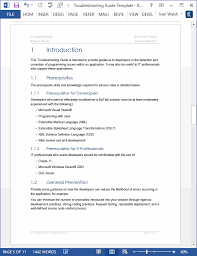 Troubleshooting Guide Template Ms Word Templates Forms