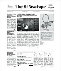 Fake Newspaper Template Word Newspaper Templates Toptemplate Ga
