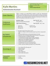 Administrative Assistant Resume Templates 2018 The Hakkinen