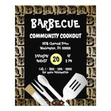Barbecue Flyers Barbecue Grilling Cookout Flyer