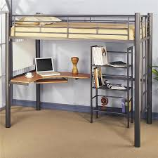 loft beds full metal loft bed with desk bunk and shelf beds twin size in