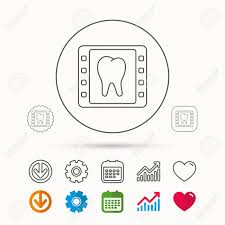 Dental X Ray Icon Orthodontic Roentgen Sign Calendar Graph